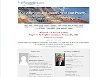 Pray for Leaders Web Site